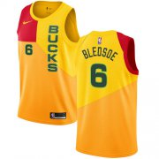 Wholesale Cheap Nike Bucks #6 Eric Bledsoe Yellow NBA Swingman City Edition Jersey