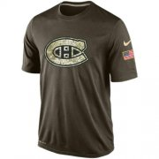 Wholesale Cheap Men's Montreal Canadiens Salute To Service Nike Dri-FIT T-Shirt