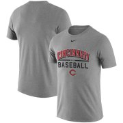 Wholesale Cheap Cincinnati Reds Nike Away Practice T-Shirt Heathered Gray