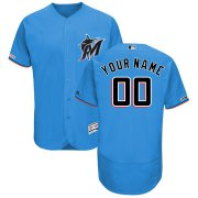 Wholesale Cheap Miami Marlins Majestic Alternate 2019 Authentic Collection Flex Base Custom Jersey Blue