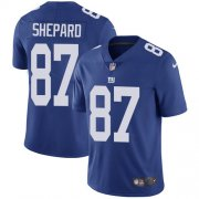 Wholesale Cheap Nike Giants #87 Sterling Shepard Royal Blue Team Color Youth Stitched NFL Vapor Untouchable Limited Jersey