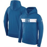 Wholesale Cheap Men's Indianapolis Colts Nike Royal Sideline Team Performance Pullover Hoodie