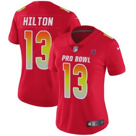Wholesale Cheap Nike Colts #13 T.Y. Hilton Red Women\'s Stitched NFL Limited AFC 2018 Pro Bowl Jersey