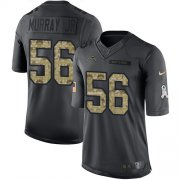 Wholesale Cheap Nike Chargers #56 Kenneth Murray Jr Black Men's Stitched NFL Limited 2016 Salute to Service Jersey
