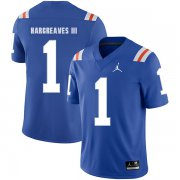 Wholesale Cheap Florida Gators 1 Vernon Hargreaves Blue Throwback College Football Jersey