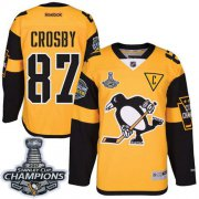 Wholesale Cheap Penguins #87 Sidney Crosby Gold 2017 Stadium Series Stanley Cup Finals Champions Stitched NHL Jersey