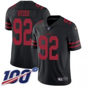 Wholesale Cheap Nike 49ers #92 Kerry Hyder Black Alternate Youth Stitched NFL 100th Season Vapor Untouchable Limited Jersey