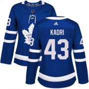 Wholesale Cheap Adidas Maple Leafs #43 Nazem Kadri Blue Home Authentic Women's Stitched NHL Jersey