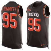 Wholesale Cheap Nike Browns #95 Myles Garrett Brown Team Color Men's Stitched NFL Limited Tank Top Jersey