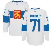 Wholesale Cheap Team Finland #71 Leo Komarov White 2016 World Cup Stitched NHL Jersey