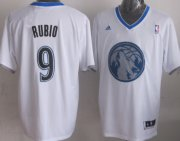 Wholesale Cheap Minnesota Timberwolves #9 Ricky Rubio Revolution 30 Swingman 2013 Christmas Day White Jersey