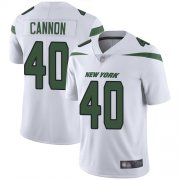 Wholesale Cheap Nike Jets #40 Trenton Cannon White Men's Stitched NFL Vapor Untouchable Limited Jersey