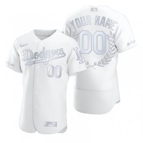 Wholesale Cheap Los Angeles Dodgers Custom Men\'s Nike Platinum MLB MVP Limited Player Edition Jersey