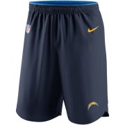 Wholesale Cheap Los Angeles Chargers Nike Sideline Vapor Performance Shorts Navy
