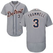 Wholesale Cheap Tigers #3 Alan Trammell Grey Flexbase Authentic Collection Stitched MLB Jersey