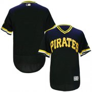 Wholesale Pirates Blank Black Flexbase Authentic Collection Cooperstown Stitched Baseball Jersey