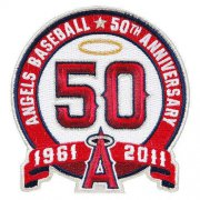 Wholesale Cheap Stitched Los Angeles Angels 50th Anniversary Jersey Patch