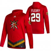 Wholesale Cheap Vegas Golden Knights #29 Marc-Andre Fleury Adidas Reverse Retro Pullover Hoodie Red