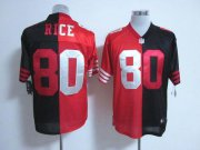 Wholesale Cheap Nike 49ers #80 Jerry Rice Black/Red Men's Stitched NFL Elite Split Jersey