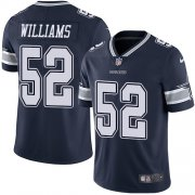 Wholesale Cheap Nike Cowboys #52 Connor Williams Navy Blue Team Color Men's Stitched NFL Vapor Untouchable Limited Jersey