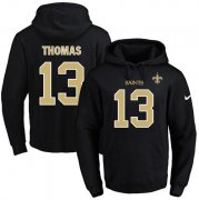 Wholesale Cheap Nike Saints #13 Michael Thomas Black Name & Number Pullover NFL Hoodie