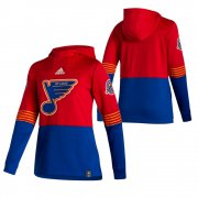 Wholesale Cheap St. Louis Blues Blank Adidas Reverse Retro Pullover Hoodie Red