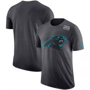 Wholesale Cheap NFL Men's Carolina Panthers Nike Anthracite Crucial Catch Tri-Blend Performance T-Shirt