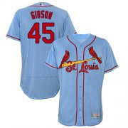Wholesale Cheap Cardinals #45 Bob Gibson Light Blue Flexbase Authentic Collection Stitched MLB Jersey