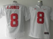 Wholesale Cheap Alabama Crimson Tide #8 J.Jones White Jersey