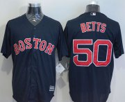 Wholesale Cheap Red Sox #50 Mookie Betts Navy Blue New Cool Base Stitched MLB Jersey