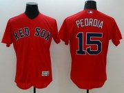 Wholesale Cheap Red Sox #15 Dustin Pedroia Red Flexbase Authentic Collection Stitched MLB Jersey