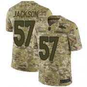 Wholesale Cheap Nike Broncos #57 Tom Jackson Camo Youth Stitched NFL Limited 2018 Salute to Service Jersey