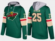 Wholesale Cheap Wild #25 Jonas Brodin Green Name And Number Hoodie