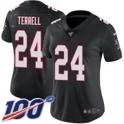 Wholesale Cheap Nike Falcons #24 A.J. Terrell Black Alternate Women's Stitched NFL 100th Season Vapor Untouchable Limited Jersey