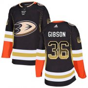 Wholesale Cheap Adidas Ducks #36 John Gibson Black Home Authentic Drift Fashion Stitched NHL Jersey