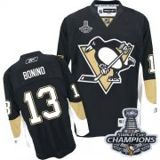 Wholesale Cheap Penguins #13 Nick Bonino Black Home 2017 Stanley Cup Finals Champions Stitched NHL Jersey