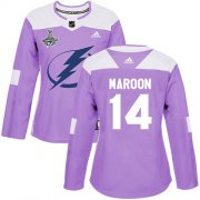 Cheap Adidas Lightning #14 Pat Maroon Purple Authentic Fights Cancer Women's 2020 Stanley Cup Champions Stitched NHL Jersey