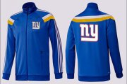 Wholesale Cheap NFL New York Giants Team Logo Jacket Blue_5