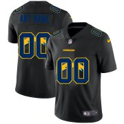 Wholesale Cheap Los Angeles Chargers Custom Men's Nike Team Logo Dual Overlap Limited NFL Jersey Black