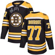 Wholesale Cheap Adidas Bruins #77 Ray Bourque Black Home Authentic Stanley Cup Final Bound Stitched NHL Jersey