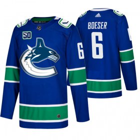 Wholesale Cheap Men\'s Vancouver Canucks #6 Brock Boeser Adidas Blue 2019-20 Home Authentic NHL Jersey