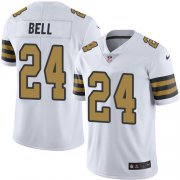 Wholesale Cheap Nike Saints #24 Vonn Bell White Youth Stitched NFL Limited Rush Jersey