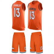 Wholesale Cheap Nike Broncos #13 KJ Hamler Orange Team Color Men's Stitched NFL Limited Tank Top Suit Jersey
