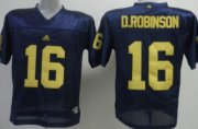 Wholesale Cheap Michigan Wolverines #16 Denard Robinson Navy Blue Jersey