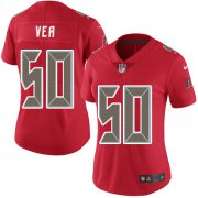 Wholesale Cheap Nike Buccaneers #50 Vita Vea Red Women's Stitched NFL Limited Rush Jersey