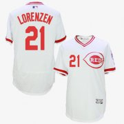 Wholesale Reds #21 Michael Lorenzen White Flexbase Authentic Collection Cooperstown Stitched Baseball Jersey