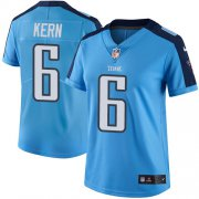Wholesale Cheap Nike Titans #6 Brett Kern Light Blue Women's Stitched NFL Limited Rush Jersey