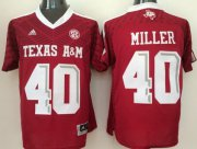 Wholesale Cheap Men's Texas A&M Aggies #40 Von Miller Red 2016 College Football Nike Jersey