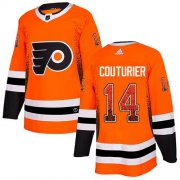 Wholesale Cheap Adidas Flyers #14 Sean Couturier Orange Home Authentic Drift Fashion Stitched NHL Jersey