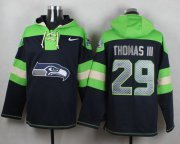 Wholesale Cheap Nike Seahawks #29 Earl Thomas III Steel Blue Player Pullover NFL Hoodie